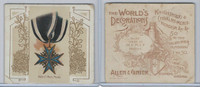 N44 Allen & Ginter, World's Decorations, 1890, #24 Order Of Merit, Prussia