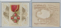 N44 Allen & Ginter, World's Decorations, 1890, #33 Order Of St. Anne, Russia