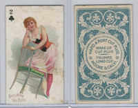 N458 Hard A Port, Playing Cards, 1890, Club 2