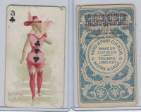 N458 Hard A Port, Playing Cards, 1890, Club 3