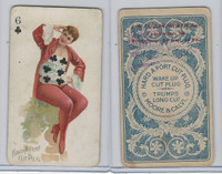 N458 Hard A Port, Playing Cards, 1890, Club 6