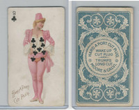 N458 Hard A Port, Playing Cards, 1890, Club 9