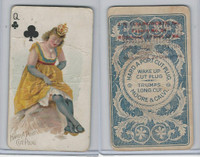 N458 Hard A Port, Playing Cards, 1890, Club Queen