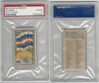 N6 Allen & Ginter, City Flags, 1888, Algiers, PSA 2 Good