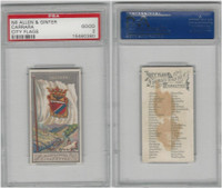 N6 Allen & Ginter, City Flags, 1888, Carrara, PSA 2 Good