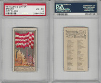 N6 Allen & Ginter, City Flags, 1888, Bremen, Germany, PSA 4 VGEX