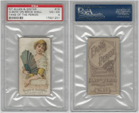N7 Allen & Ginter, Fans of the Period, 1889, #15, PSA 4 VGEX