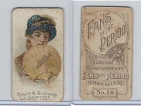 N7 Allen & Ginter, Fans of the Period, 1889, #18