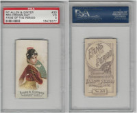 N7 Allen & Ginter, Fans of the Period, 1889, #33, PSA 3 VG