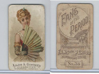 N7 Allen & Ginter, Fans of the Period, 1889, #38