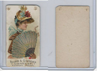 N7 Allen & Ginter, Fans of the Period, 1889, #43 (Skinned)