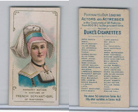 N70 Duke, Actors and Actresses, 1889, Margaret Mather, French Servant