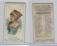 N70 Duke, Actors and Actresses, 1889, Clara Morris, Italian Costume