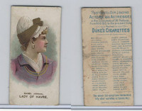 N71 Duke, Actors and Actresses - 2nd Series, 1889, Mabel Jordan, Havre