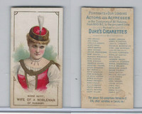 N71 Duke, Actors and Actresses - 2nd Series, 1889, Marie Sutit, Hungary