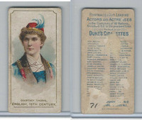 N71 Duke, Actors and Actresses - 2nd Series, 1889, Courtney Thorpe, England