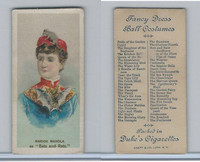 N73 Duke, Fancy Dress Ball Costumes,  1887, Bats and Rats, Marion Manola