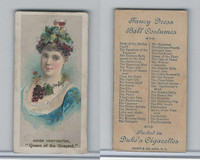 N73 Duke, Fancy Dress Ball Costumes,  1887, Queen of the Vineyard