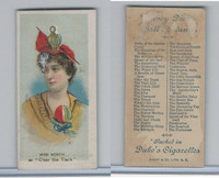 N73 Duke, Fancy Dress Ball Costumes,  1887, Clear The Track, Miss Worth