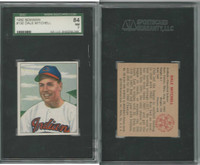 1950 Bowman Baseball, #130 Dale Mitchell Cleveland Indians, SGC 84 NM