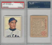 1950 Bowman Baseball, #195 Phil Cavarretta Chicago Cubs, PSA 5 EX