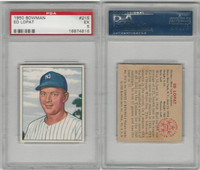 1950 Bowman Baseball, #215 Ed Lopat New York Yankees, PSA 5 EX