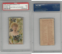 N75 Duke, Floral Beauties, 1892, Clematis, PSA 5 EX