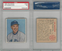 1950 Bowman Baseball, #220 Leo Durocher HOF, New York Giants, PSA 7 NM