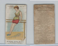 N77 Duke, Gymnastic Exercises, 1887, Parallel Bar, Vaulting