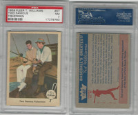 1959 Fleer Baseball, #67 Two Fishermen, Willimas & Snead, PSA 7 NM
