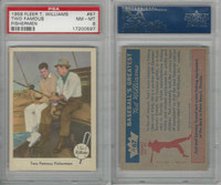 1959 Fleer Baseball, #67 Two Fishermen, Willimas & Snead, PSA 8 NMMT