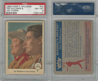 1959 Fleer Baseball, #70 Ted Williams & Jim Thorpe, PSA 8 NMMT