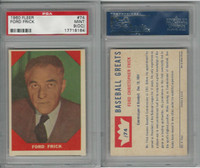 1960 Fleer Baseball, #74 Ford Frick , PSA 9 OC Mint