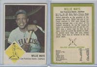 1963 Fleer Baseball, #5 Willie Mays HOF, San Francisco Giants