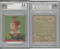1933 Goudey Baseball, #18 Muddy Ruel, Browns, BVG 3.5 VG+