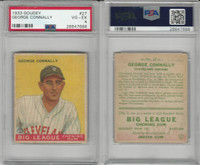 1933 Goudey Baseball, #27 George Connally, Indians, PSA 4 VGEX