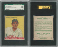 1933 Goudey Baseball, #27 George Connally, Indians, SGC 80 EXMT