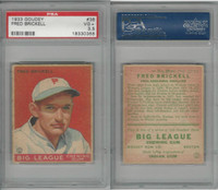 1933 Goudey Baseball, #38 Fred Brickell, Phillies, PSA 3.5 VG+