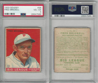 1933 Goudey Baseball, #38 Fred Brickell, Phillies, PSA 4 VGEX