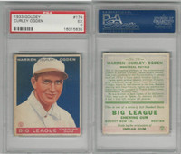 1933 Goudey Baseball, #174 Warren (Curly) Ogden, Royals, PSA 5 EX