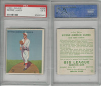 1933 Goudey Baseball, #208 Bernie James, Giants, PSA 5 EX
