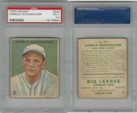 1933 Goudey Baseball, #240 Hal Schumacher, Giants, PSA 3.5 VG+