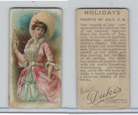 N80 Duke, Holidays, 1890, Fourth of July, United States