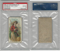 N80 Duke, Holidays, 1890, Garibaldi Day - Italy, PSA 2 Good