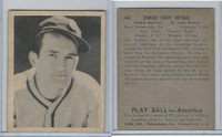 1939 Playball Baseball, #44 Don Heffner, St. Louis Browns