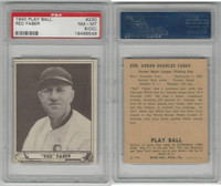 1940 Playball Baseball, #230 Red Faber HOF, White Sox, PSA 8 OC NMMT