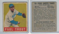 1948 Leaf Baseball, #10 Paul Trout, Detroit Tigers