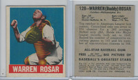 1948 Leaf Baseball, #128 Warren Rosar, Philadelphia Athletics