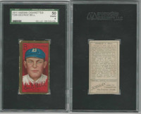T205 ATC Baseball, 1911, George G. Bell, Brooklyn, SGC 50 VGEX