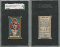 T205 ATC Baseball, 1911, Briscoe Lord, Athletics, SGC 50 VGEX